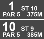 First and Tenth hole details