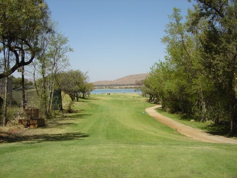 View of the 9th fairway from the tee